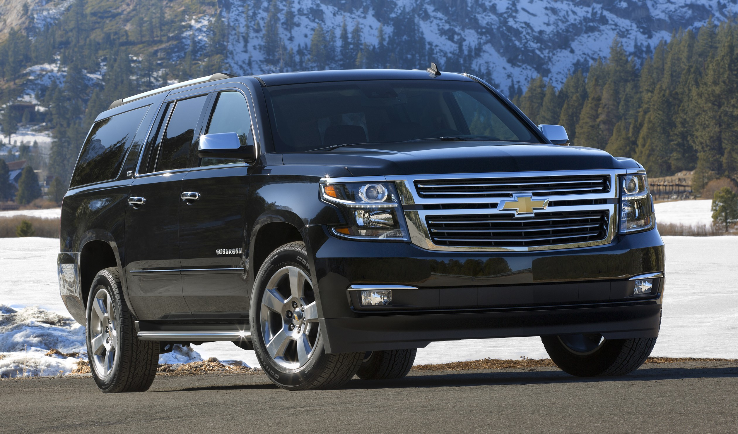 2015 Chevrolet Suburban in Black Front Passenger Side in Lake Ta