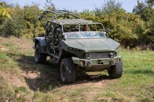 The 5,000-pound GM Defense Infantry Squad Vehicle was uniquely e