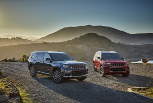 All-new 2021 Jeep Grand Cherokee L Summit Reserve (left) and All