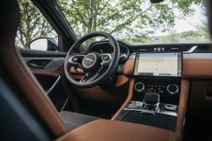 2021 Jaguar F-PACE SVR Siena Tan full interior