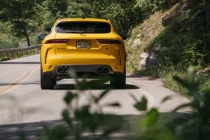2021 Jaguar F-PACE SVR Sorrento Yellow rear
