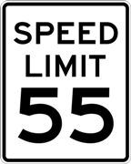 55 MPH Speed Limit